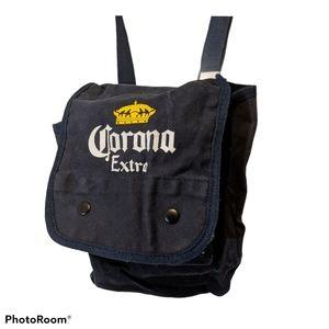 Corona Beer Crossbody Bag Canvas Logo Blue